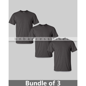 BNB Accessories Pack of 3 T-Shirts for Men CRS-105 Grey