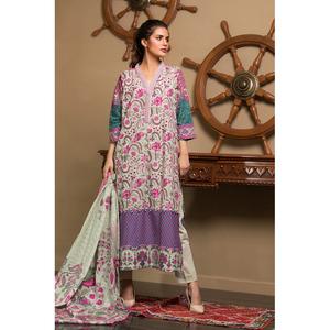 Oaks 2 Pcs Khaddar Unstitched Suit OWKH2P-3238-A Multicolor