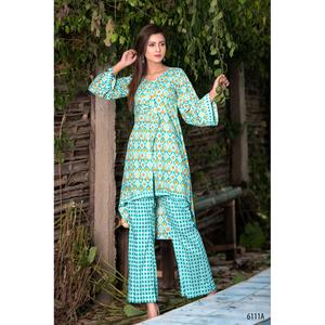 Sitara Studio 2 Pcs Unstitched Sapna Collection Lawn Suit for Women 6111 A Blue