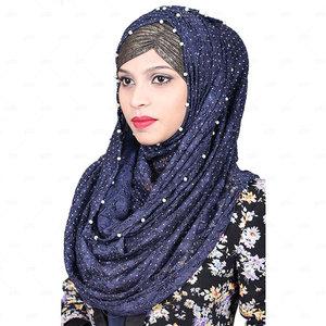 Women Net Hijab Pn063 Blue
