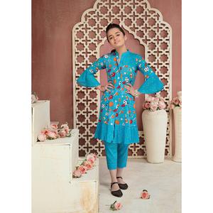 Sitara Studio 2 Pcs Unstitched Lawn Suit SC6145-002-00B Blue