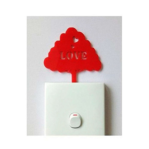 Love Tree Acrylic Wall Art Red