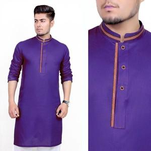 Stitched Kurta For Men - Purple