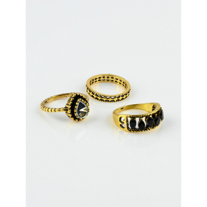 Jewellery Hut Gold Plated Cubic Zirconia Italian Rings Jh-100 Gold