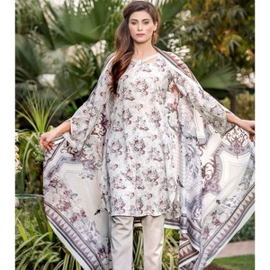 3 Pcs Unstitched Lawn Suit for Women UD Lawn-A-261 ...