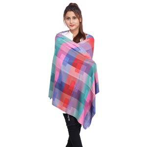 Long Tassel Cashmere Printed Stole/Scarf for Wome ...