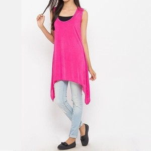 River Rock Polyester & Jersey Sleeveless Tunic ...
