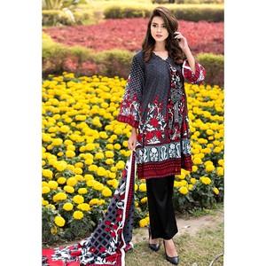 4 Pcs Unstitched Lawn For Women Sapna Lawn-5177 Mu ...