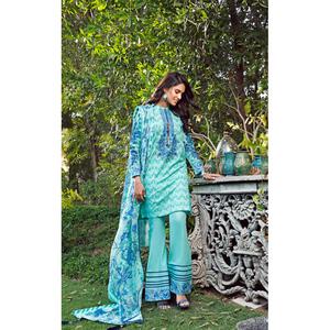 Oaks 3 Pcs Unstitched Suit for Women OLE3P-3595-B Light Blue