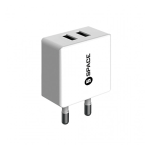 Space Wc101 Dual Ports 2.4A Wall Charger + Micro-USB Cable White