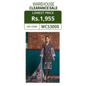 Oaks 3 Pcs Unstitched Suit for Women OWKHJE3P-3212-A Multicolor