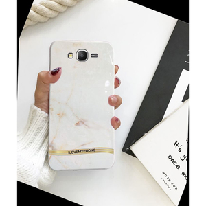 Samsung J7 2015 Marble Style Mobile Cover White
