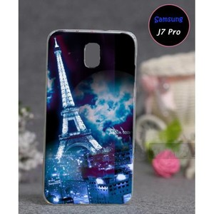 Samsung J7 Pro Soft Cover Eiffel Tower SA-5562 Blu ...
