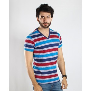 Red Tree V Neck T-Shirt for Men RT1513 Red & B ...