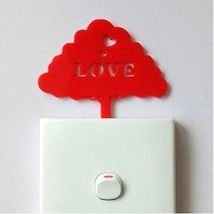 ProtonX Love Tree Acrylic Wall Art PROTONX036 Red