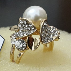 JOS Gorgeous Design Ring with Pearl Stone 787 Gold ...