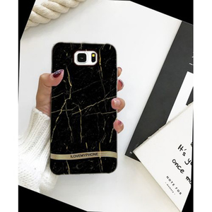 Samsung S6 Edge Marble Style Mobile Cover Black