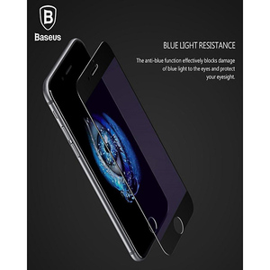 Baseus Silk Screen Light Protection Tempered 0.2Mm Glass For Iphone 7, 8 Black