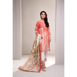 Oaks 3 Pcs Unstitched Suit for Women OLE-3362-A Multicolor