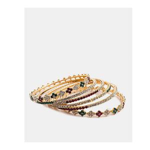 Jewellery Hut Gold Plated Zirconia Bangles For Women Jh-036