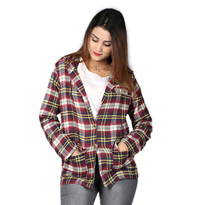 Erric check Shirts For girls Multicolor