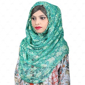 Women Net Hijab Pn056 Green