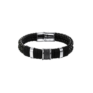 Julke Jack Leather Bracelet for Men JUL-418 Black