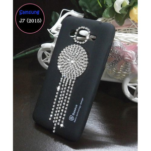 Samsung J7 2015 Fancy Style Mobile Cover Black