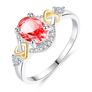 Crystal Cubic Zirconia Silver Plated Rings For Women HS-WL-R298 Silver
