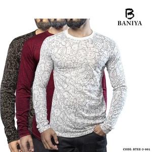 Baniya Pack of Three Printed T-shirts for Men Btee ...