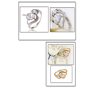 Fashion Cafe Pack of 2 Gold Plated Ring Golden & Silver