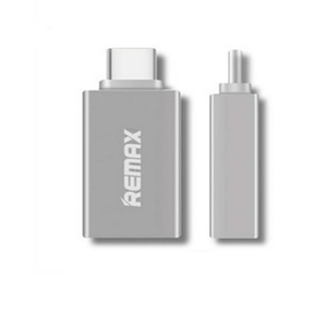 Remax OTG Type-C USB Adapter Silver