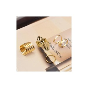 Only4she Set of 4 Finger Rings O4S1070 Gold