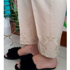 Zardi Pure Cotton Embroidered Trouser For Women KT ...