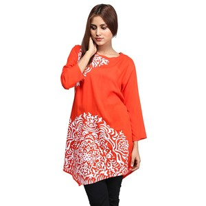 DOH Stylish Printed Kurti for Women DOHG-266 Orange
