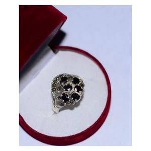 GILGIT BAZAR Sapphire Real Stone Ring GB434 Black ...