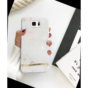 Samsung S7 Marble Style Mobile Cover White