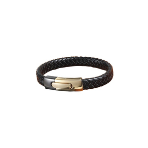 Julke Proximo Leather Bracelet for Men JUL-416 Black