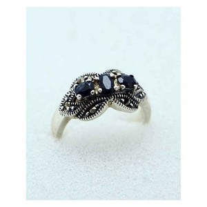 GILGIT BAZAR Sapphire Stone Ring GB1902 Black