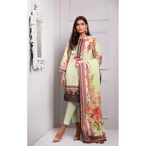 Oaks 2 Pcs Unstitched suit for Women OLE2P-3374-A Leaf Green