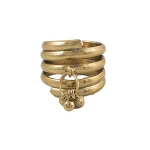 Challa Style Ring for Unisex J087 Golden