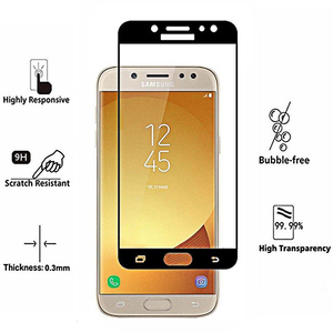 9D Full Glue Tempered Glass For Samsung Galaxy J7 Pro Black