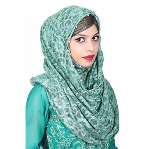 Women Net Hijab Pn066 Blue