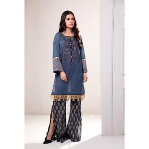 Oaks 2 Pcs Unstitched Suit for Women OLE2PT-3396-A Multicolor