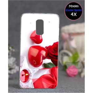 Xiaomi Redmi 4X Love Style 6 Mobile Cover Red