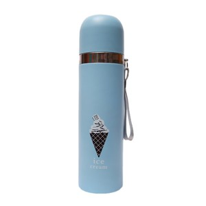 500 ml Printed Cone Water Bottle Blue