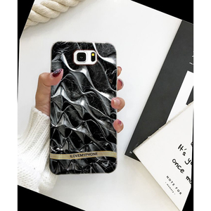 Samsung S7 Edge Marble Style Mobile Cover Black