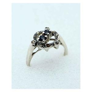 GILGIT BAZAR Sapphire Stone Ring GB1901 Black
