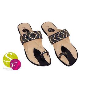 Flat Slippers for Women 441 - Black