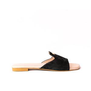Julke Florence Flat Sandals For Women JUL-177 Noir